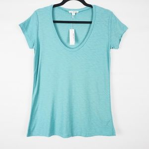 James Perse Deep V-Neck T-Shirt, NWT Size 1